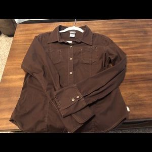 North Face A5 Brown Long Sleeve Top